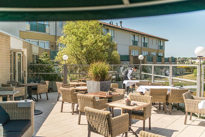 Hotel Greenside terras
